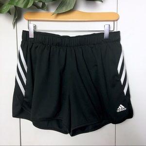 ADIDAS Classic Black Striped Athletic Shorts